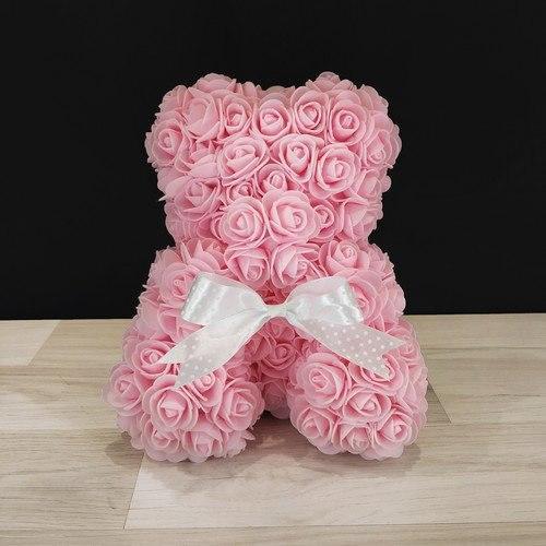 Мишка из роз с запахом (25 см) 4 цвета