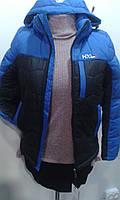 Теплая двухцветная куртка