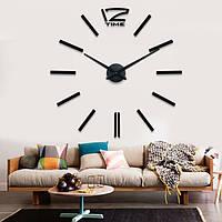 """Часы настенные 3D """"DIY"""" от 60 до 120 см цвет черный (ZH212-B)"""