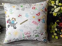 Подушка детские рисунки 35 см * 35 см