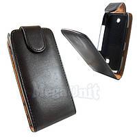 Откидной чехол-флип для Nokia 309 Черный