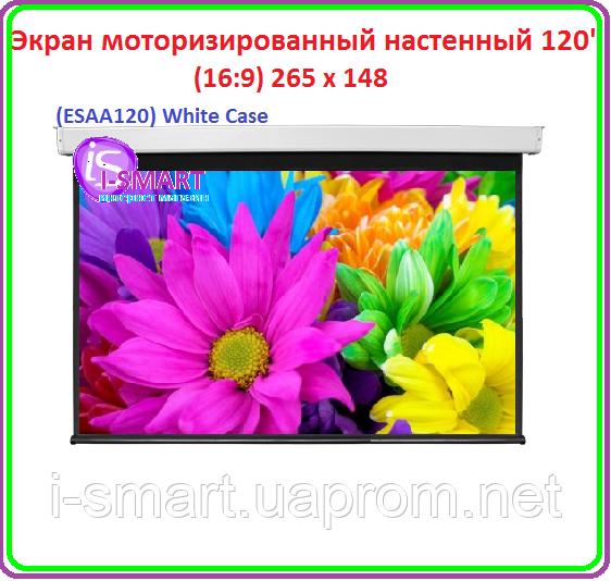 """Экран настенный моторизированный настенный 120"""" (16:9)"""
