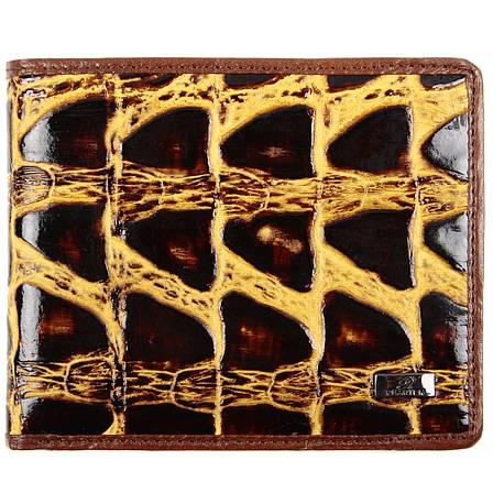 Портмоне мужское из натуральной кожи PEARTEN 120х95х20 застёжка кнопка м 1209кор, фото 2