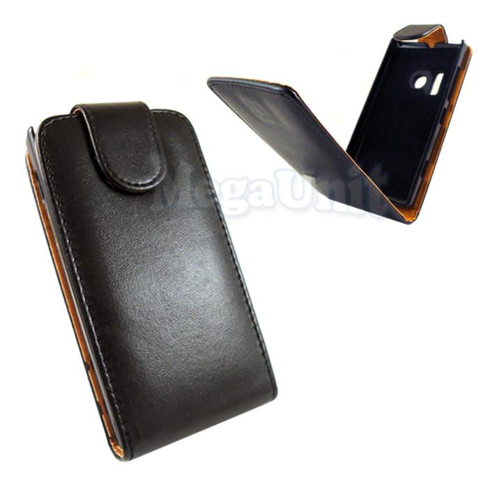 Откидной чехол-флип для Nokia 620 Черный