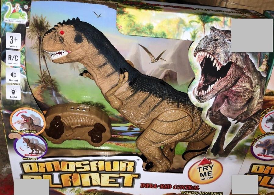 Динозавр Тиранозавр на радиоуправлении свет, звук, ходит
