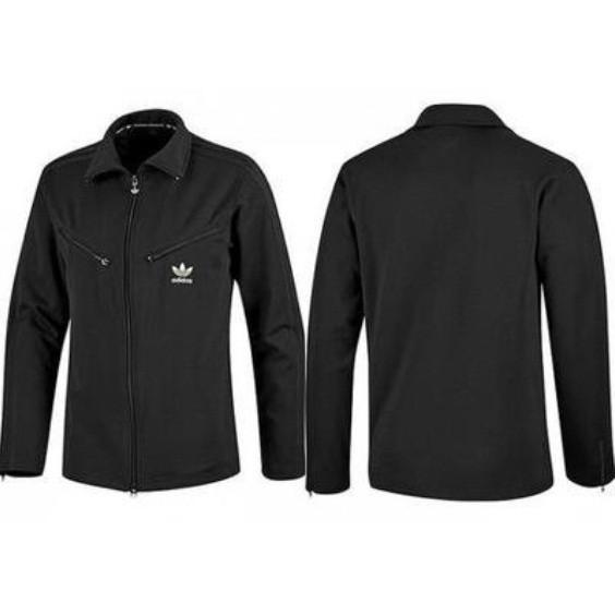 Олимпийка спортивная мужская adidas Originals 80s E16125 (черная, хлопок, повседневная, логотип адидас)