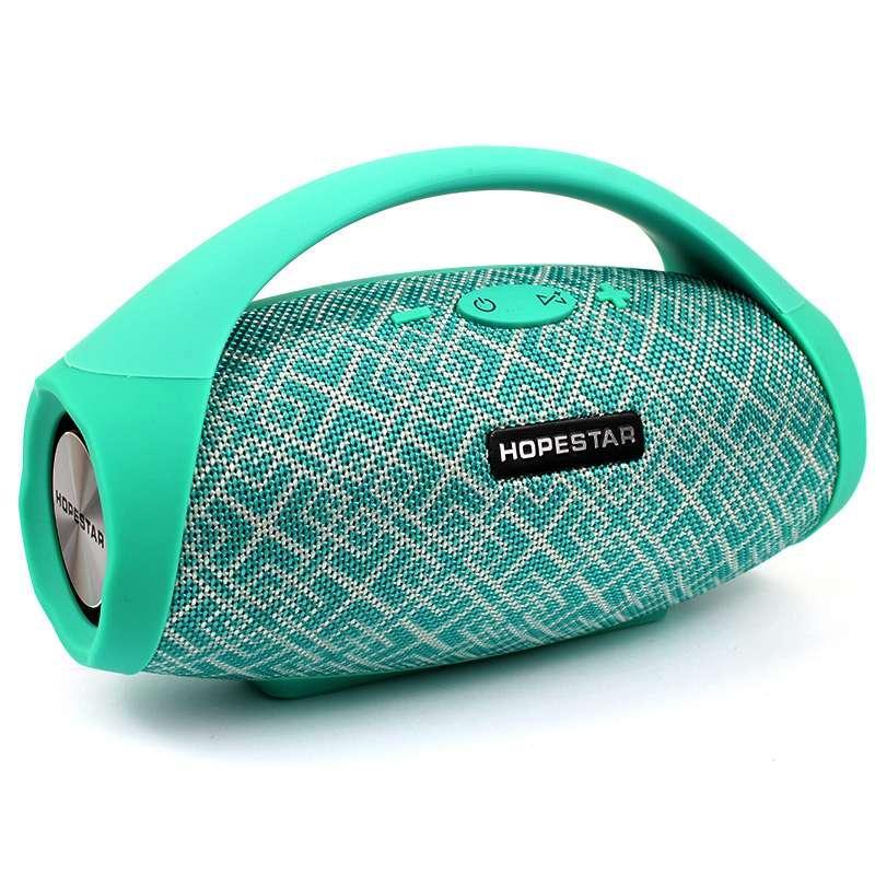 Портативная акустическая Bluetooth колонка Hopestar H32 зеленая 140044