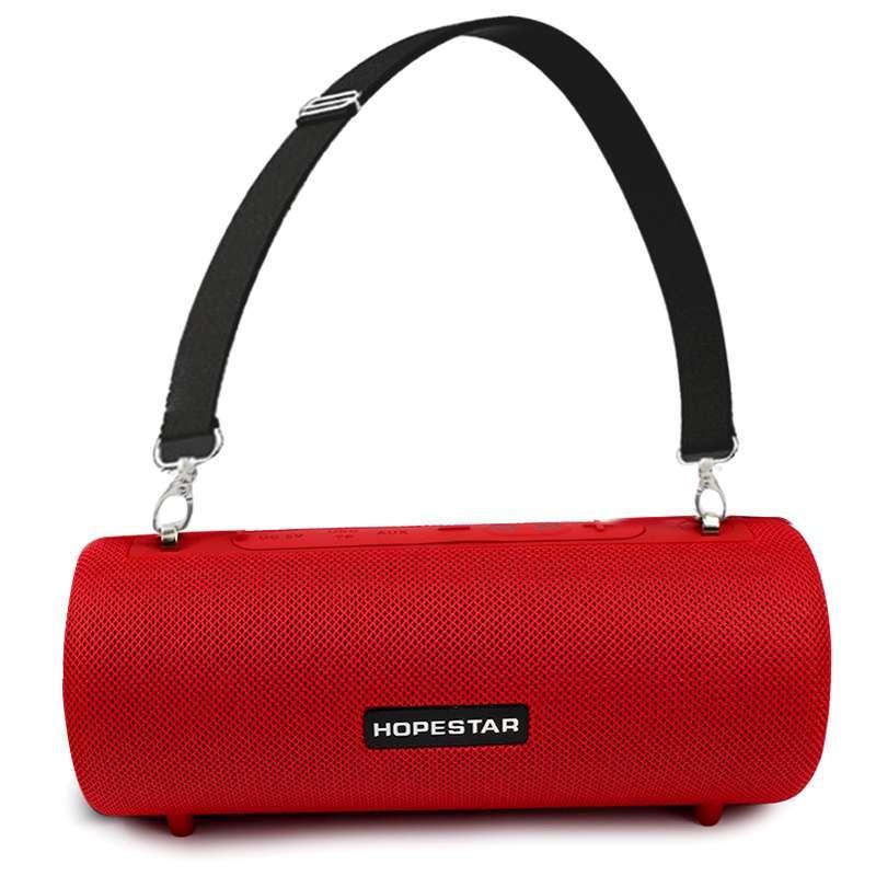 Портативная акустическая Bluetooth колонка Hopestar H39 влагостойкая красная 140051