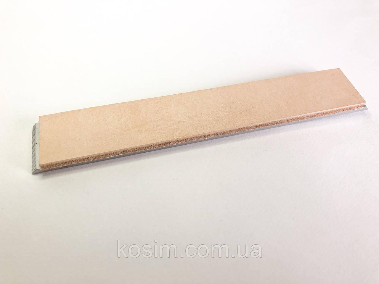 Бланк с кожей для точилки типа Apex для полировки, правки ножей бритв
