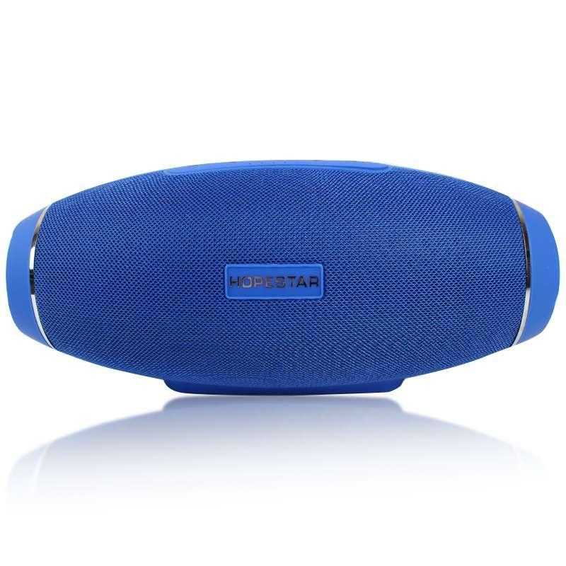 Портативная акустическая стерео колонка H20 синяя 140075