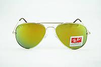 Зеркальные Солнцезащитные очки Ray Ban капельки 3025 зеленого цвета , фото 1