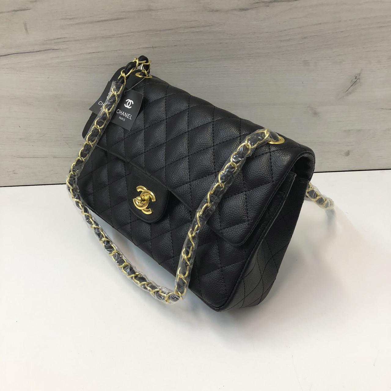 cff277002974 Сумка реплика Chanel classic flap 28см | Шанель серебристая фурнитура Черный