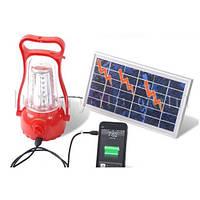 Фонарь лампа аккумуляторная Yajia 5833, 35LED, солн. батарея