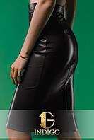 Стильная юбка карандаш эко кожа, фото 1