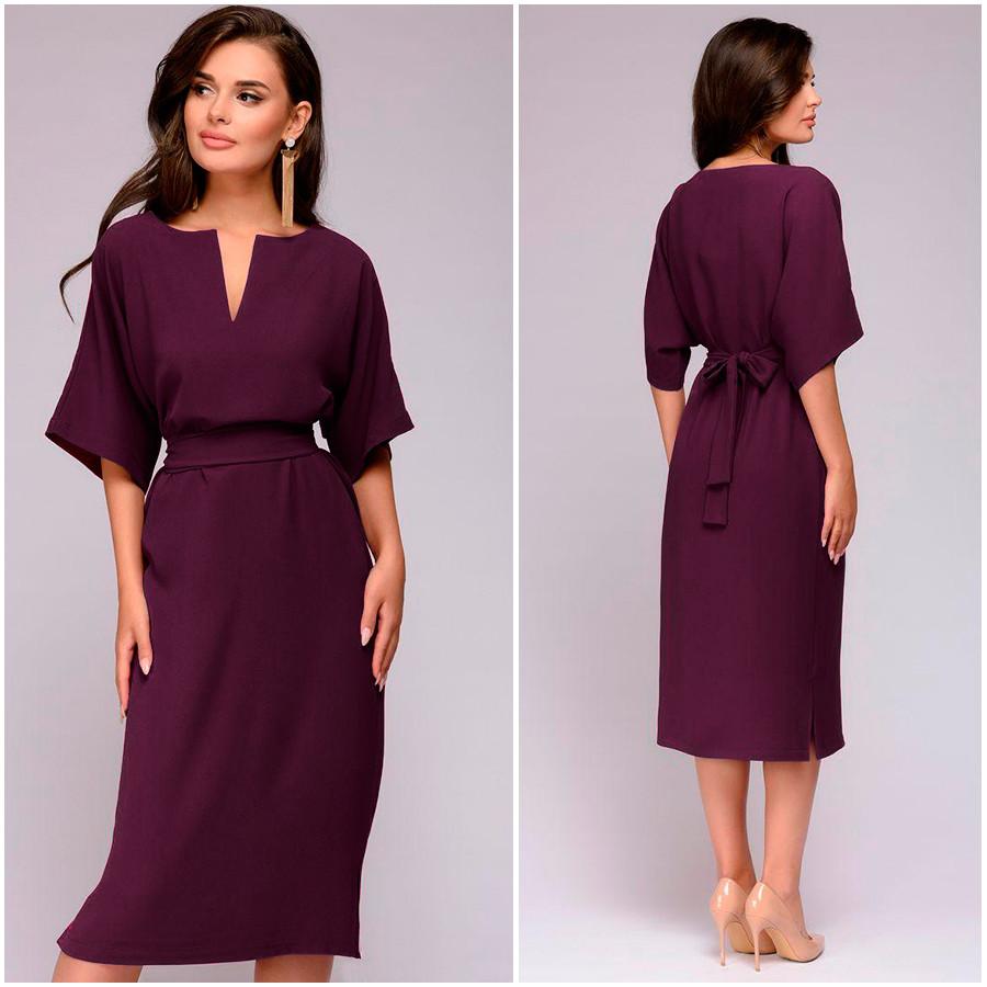 Платье цвета марсала Капелька (Код MF-420)