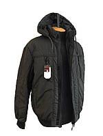 Куртка мужская весенняя (осенняя),мужская ветровка на резинке, с манжетами и капюшоном, есть большие размеры