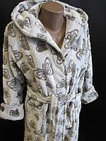 Светлые махровые халаты для женщин., фото 1