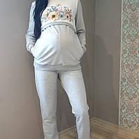 """Спортивный костюм для беременных и кормящих """"цветы"""""""