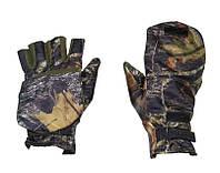 Перчатки-варежки для зимней рыбалки с откидным верхом