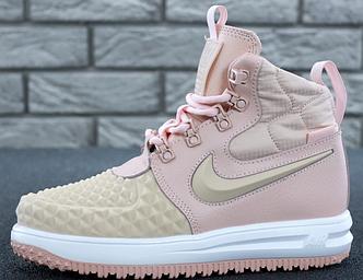 Женские кроссовки Nike Lunar Force 1 Duckboot 17 Pink, Найк Лунар Форс розовые