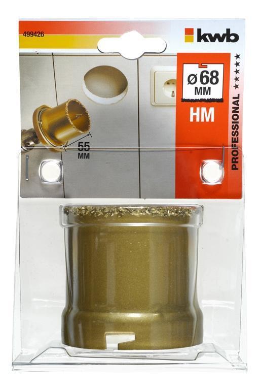 KWB Коронка вольфрамова за керамеке, Діаметр 68 мм, Німеччина