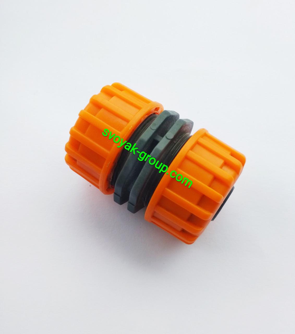 """Соединитель для шланга 3/4"""" - 3/4"""" дюйма """"Presto PS"""" - 5818 (orange, green)."""