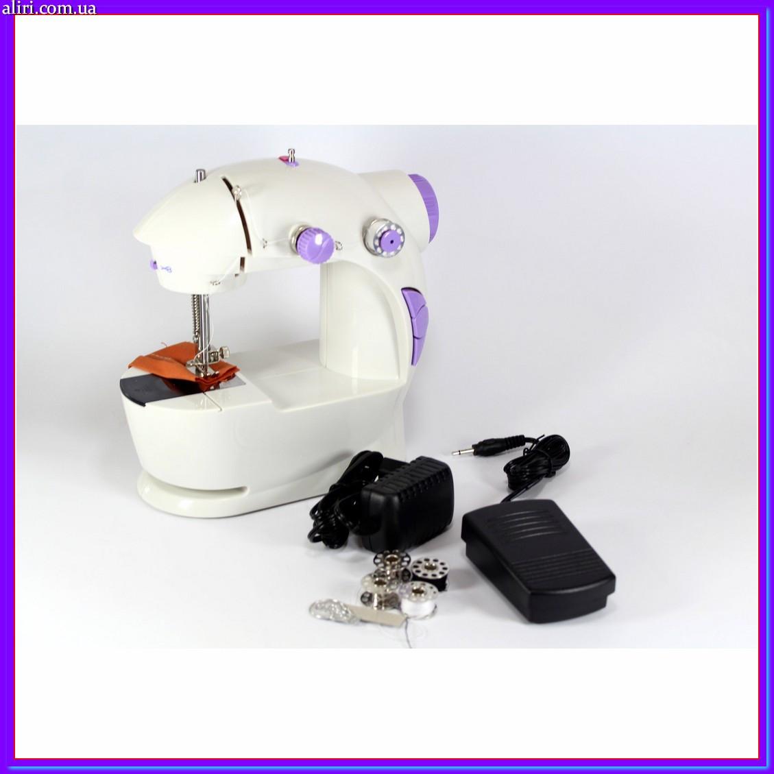 Портативная мини швейная машинка 4 в 1 с педалью и адаптером 220