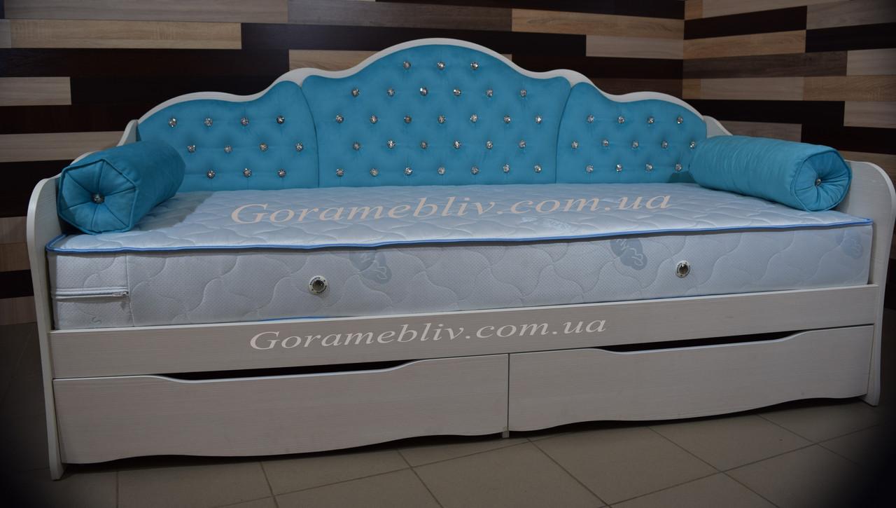 """Полуторная кровать для девочки """"Л-6"""""""