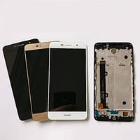 Дисплей для Huawei Y6 Pro (TIT-U02/TIT-AL00)/Enjoy 5/Honor Play 5X + touchscreen, белый, с передней панелью Высокое качество