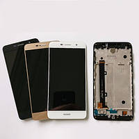 Дисплей для Huawei Y6 Pro (TIT-U02/TIT-AL00)/Enjoy 5/Honor Play 5X + touchscreen, золотистый, с панелью