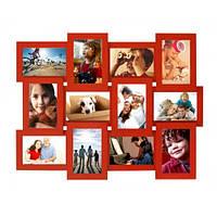 Мультирамка Премиум Красная на 12 фото