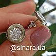 Серебряные серьги гвоздики Булгари - Пусеты Булгари серебро 925, фото 2