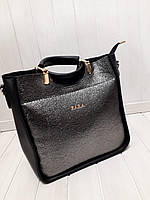 Женская сумка ZARA металлик+ черный