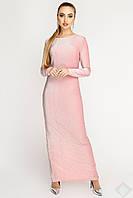 Изысканное длинное платье Терра Люрекс, розовый, фото 1