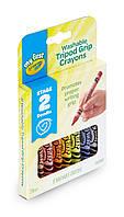 Восковые треугольные мелки, 8 цветов, смываемые, детская серия Crayola Mini kids крайола