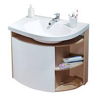 Шкафчик под умывальник Ravak Rosa Comfort SDU лево-/правосторонний (корпус береза, белый, оникс), фото 1