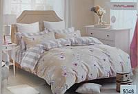 Сатиновое постельное белье полуторка ELWAY 5048 Жасмин