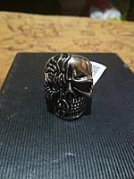 Кольцо для мужское из стали, череп 20р, фото 1