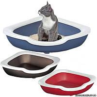 Imac ФРЭД (FRED) угловой открытый туалет для кошек, пластик 51х51х15,5 см.