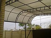Навесы из сотового поликарбоната эксклюзивные формы, фото 2