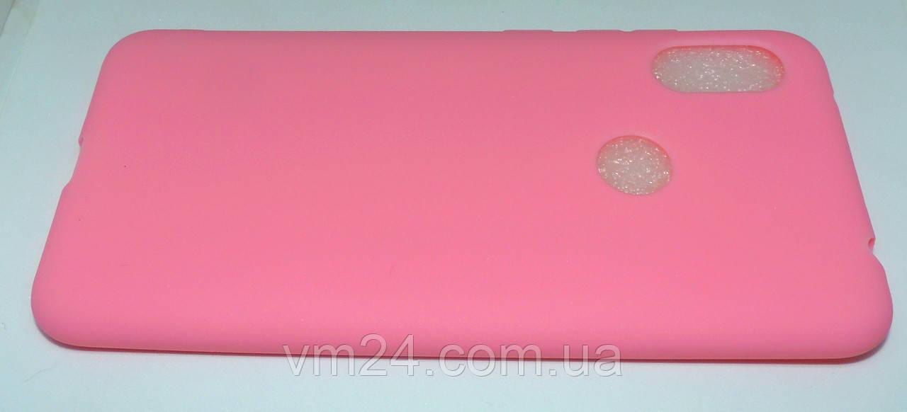 Чехол Candy Silicone для Xiaomi Redmi Note 6 Pro цвет Розовый
