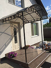 Навесы из монолитного поликарбоната (каркас сталь), фото 2