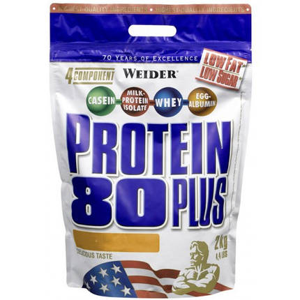 Протеин Weider Protein 80 Plus 2 кг, фото 2