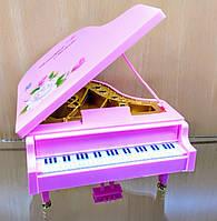 Музыкальная шкатулка Пианино розовое, 12х14х9 см., фото 1