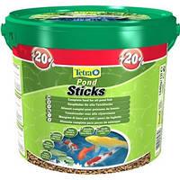 Tetra Pond Sticks - высококачественный основной корм для всех видов прудовых рыб, 10л