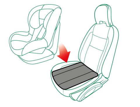 Защитный коврик под детское автокресло (эко-кожа), Capsula