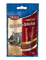 Trixie PREMIO Quadro-Sticks Anti-Hairball Лакомства для кошек (ягнёнок+птица), 4шт/5 гр.