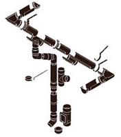 Система 125/90 Коричневий RAL 8017