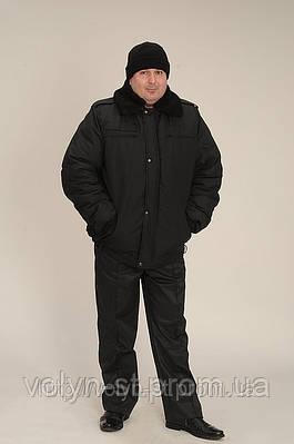 Рабочий костюм охранника: утепленная куртка и штаны
