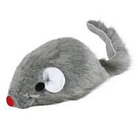 Trixie Игрушка для кошек Плюшевая мышь с колокольчиком, 5 см.